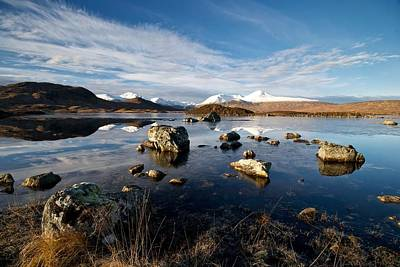 Art Print featuring the photograph Lochan Na H-achlaise by Stephen Taylor