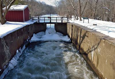 Millstone River Photograph - Lock 9 At Griggstown by Steven Richman