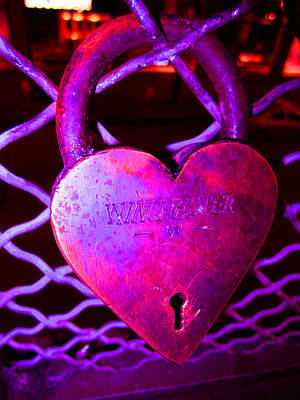 Lock Of Love In Pink Art Print by Kym Backland