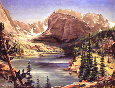 Painting - Lock Vale - Colorado by Art By Tolpo Collection