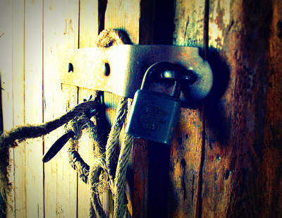 North Dakota Photograph - Locked Away by Miss Judith