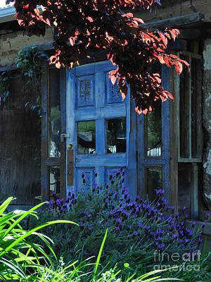 Locked Blue Door  Art Print