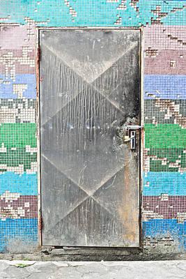 Photograph - Locked Door by Tom Gowanlock