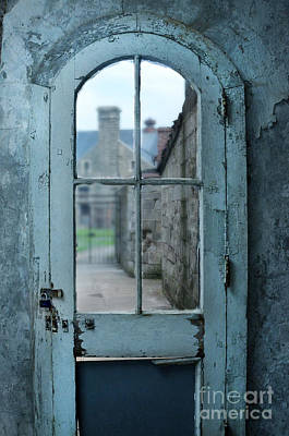 Antique Look Photograph - Locked Door With Window by Jill Battaglia