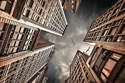 Skyscrapers Wall Art - Photograph - Locked In Civilization by Carmit Rozenzvig