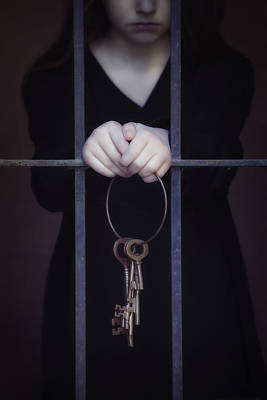 Black Ring Photograph - Locked-in by Joana Kruse