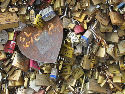 Lourve Photograph - Locked In Love by Sheryl Grise Larsen