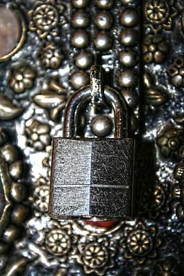 Photograph - Locked Metal Box by Lesa Fine