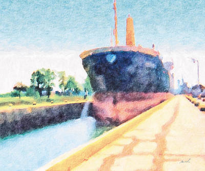 Painting - Locked Ship 2 by The Art of Marsha Charlebois