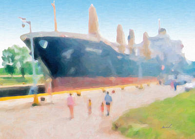Painting - Locked Ship 3 by The Art of Marsha Charlebois