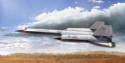 Cia Painting - Lockheed A-12 by Douglas Castleman