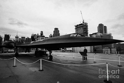 Lockheed A12 Blackbird On Display On The Flight Deck At The Intrepid Sea Air Space Museum Art Print by Joe Fox