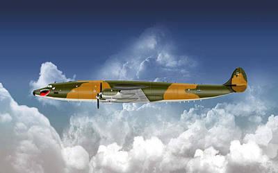 Digital Art - Lockheed Ec-121r Batcat by Arthur Eggers