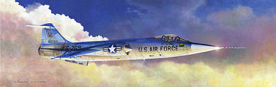 Lockheed F-104a Starfighter Art Print