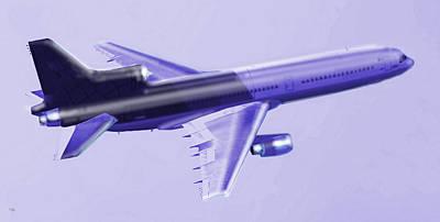 Buy Digital Art - Lockheed L-1011 Tristar 2 by Marcello Cicchini