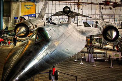 Seattle Washington Photograph - Lockheed M-21 Blackbird by David Patterson