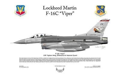 Lockheed Martin F-16c Viper Art Print by Arthur Eggers