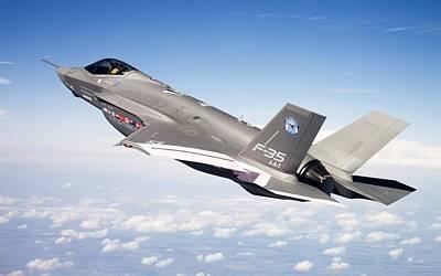 Lockheed Martin F 35 Joint Strike Fighter Lightening II Art Print
