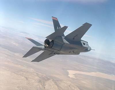 Lockheed Martin F-35 Joint Strike Fighter Upsized Art Print