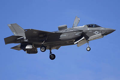 Joint Strike Fighter Photograph - Lockheed-martin F-35b Lightning 2 Buno 168720 Luke Air Force Base December 10 2013 by Brian Lockett