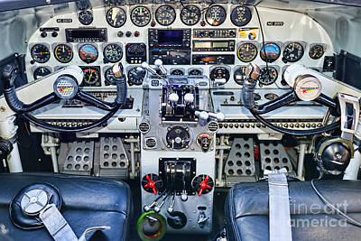 Photograph - Lockheed 12a Electra Junior Cockpit by Olga Hamilton