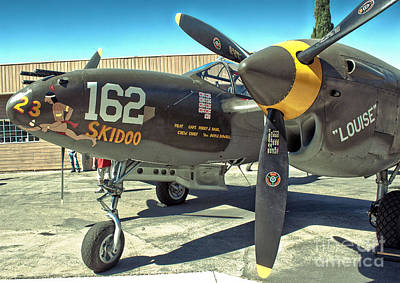 Photograph - Lockheed P-38 - 162 Skidoo - 07 by Gregory Dyer