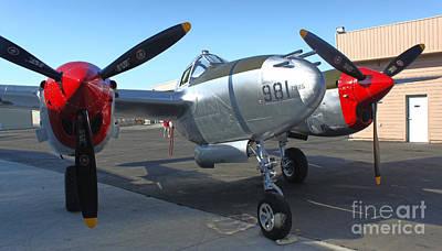 Photograph - Lockheed P-38l Lightning Honey Bunny  - 02 by Gregory Dyer