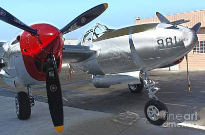 Lockheed P-38l Lightning Honey Bunny  - 03 Print by Gregory Dyer