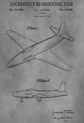 Jets Mixed Media - Lockheed Patent by Dan Sproul