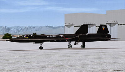Digital Art - Lockheed Sr-71 Blackbird by Walter Colvin