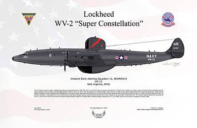 Lockheed Wv-2 Super Constellation Aewron13 Art Print by Arthur Eggers
