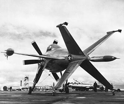 Airplane Photograph - Lockheed's Vtol Aircraft by Underwood Archives