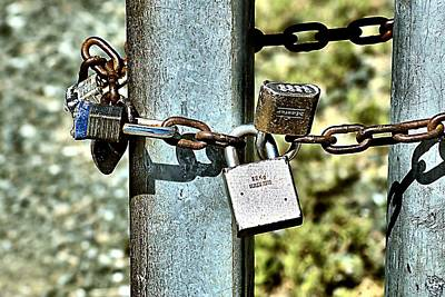 Photograph - Locks by Bob Wall