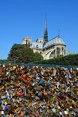 Photograph - Locks Galore On The Pont De L'archeveche In Paris by Carla Parris