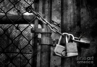 Photograph - Locks Locking Locks by Michael Eingle
