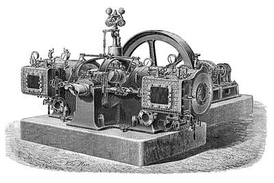 Boiler Photograph - Locoge-rochar Engine by Science Photo Library