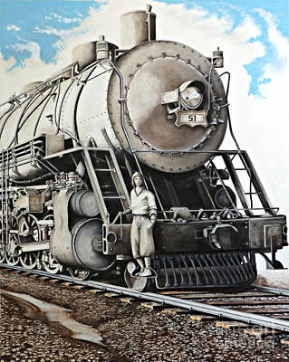 Headlight Drawing - Locomotion 1927 by David Neace