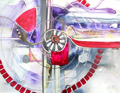 Curvilinear Painting - Locomotion by Patricia Mayhew Hamm