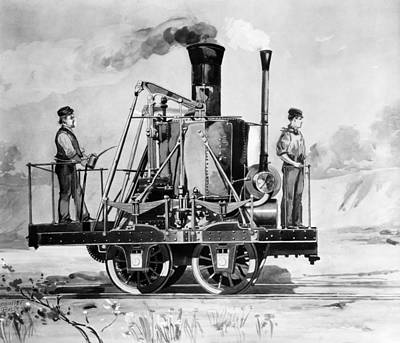 Creativity Drawing - Locomotive, 1832 by Granger