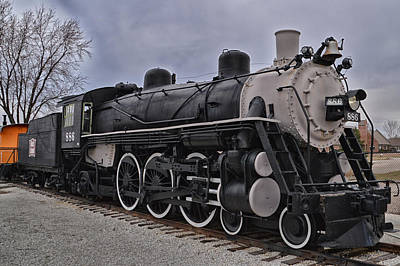By Thomas Woolworth Photograph - Locomotive 886 Type 4 6 2 Left Side View by Thomas Woolworth