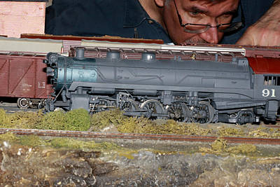 Locomotive 91 Art Print by Hugh McClean