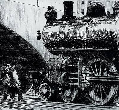 Locomotive Art Print by Edward Hopper