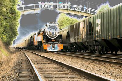 Locomotive Engine 4449 Art Print
