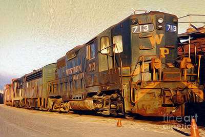Painting - Locomotive by Gregory Dyer