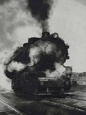 Caboose Painting - Locomotive by Jack Zulli