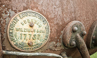 Photograph - Locomotive Medallion by Andy Crawford