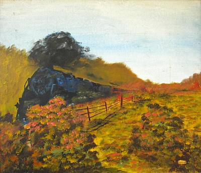 Painting - Locomotive by Michael Anthony Edwards