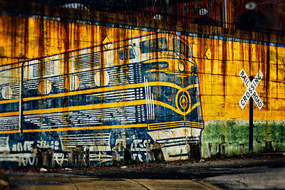 Photograph - Locomotive On A Wall by Bill Swartwout