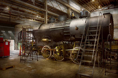 Photograph - Locomotive - Repairing History by Mike Savad