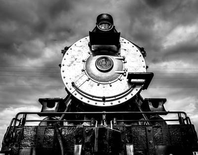 Train Photograph - Locomotive Smile B And W by Geoff Mckay